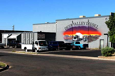 Deer Valley Diesel Mural, Phoenix, Diesel Truck Repair Shop